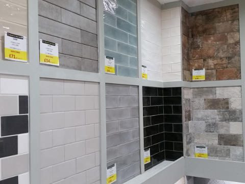 Subway Style Wall Tiles on Display in York