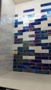 Pearlescent Metro Style Wall Tiles in York