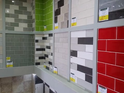 Modern Subway Style Wall Tiles on Display in York