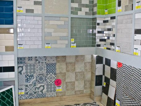 Stylish Subway Style Wall Tiles on Display in York