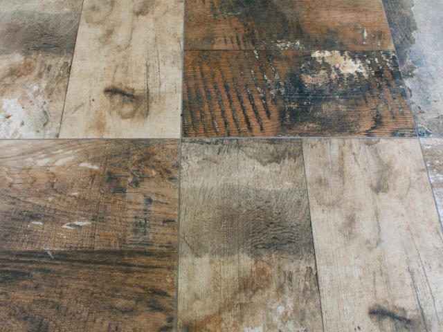 Mixed Wood Effect Floor Tiles in York