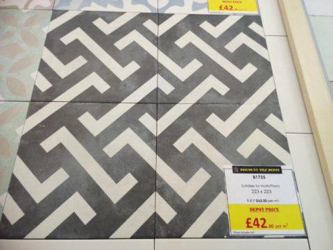 Encaustic Style Tile CA Chelsea Grey York Discount Tile Depot