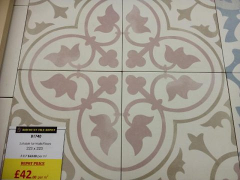Encaustic Style Tile CA Epoque Rose York Discount Tile Depot