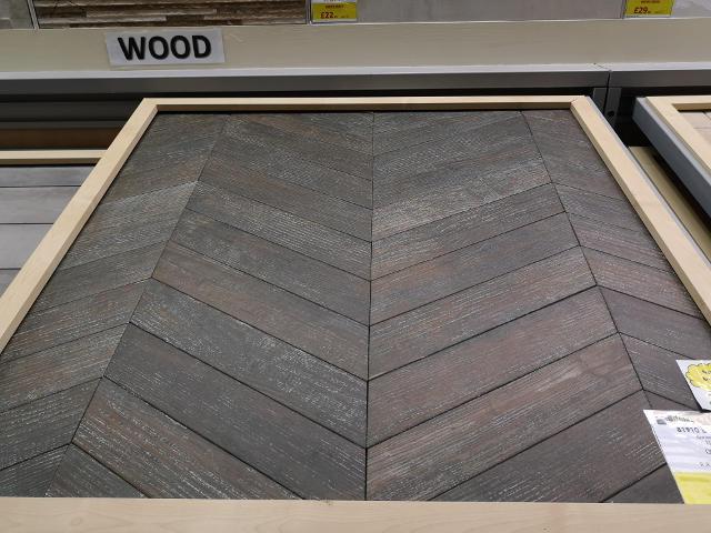 Chevron Wood Effect Tile